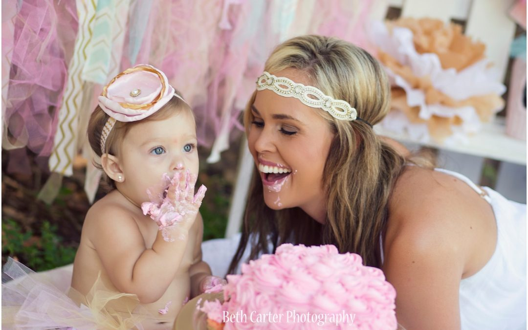 Kinlee – 1 year old  [Lakeland family and baby photography]